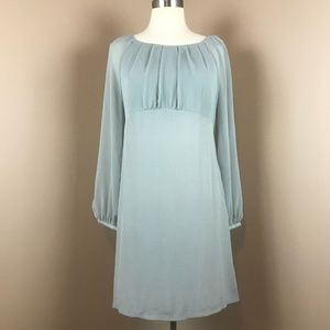 Topshop - Sky Blue M Slip Dress Full Sleeve